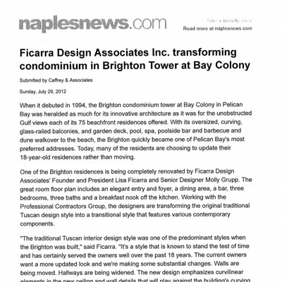 Ficarra Design Brighton Tower Bay Colony